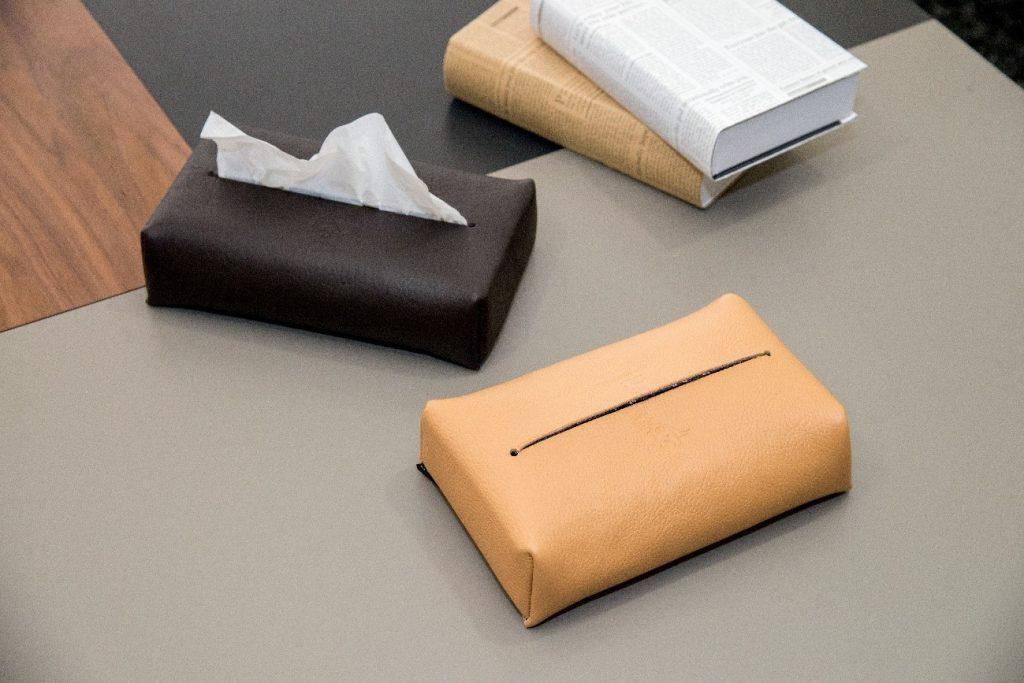 ティッシュボックスケースの製作実例